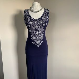French Atmosphere Blue Dress